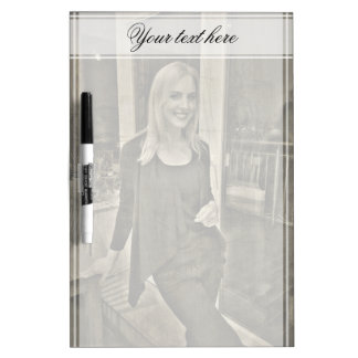Your custom photo and text Dry-Erase board