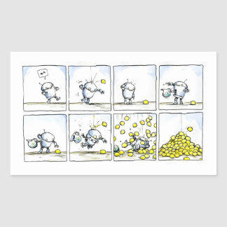 Your Custom Rectangle Stickers Lemon  comic Strip