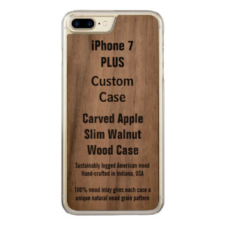 Your Custom Slim Walnut Apple iPhone 7 Plus Case