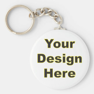 Your Design Here Basic Round Button Key Ring