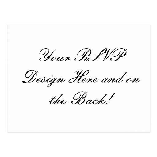 Your Design Here! Custom Wedding RSVP Card Post Card