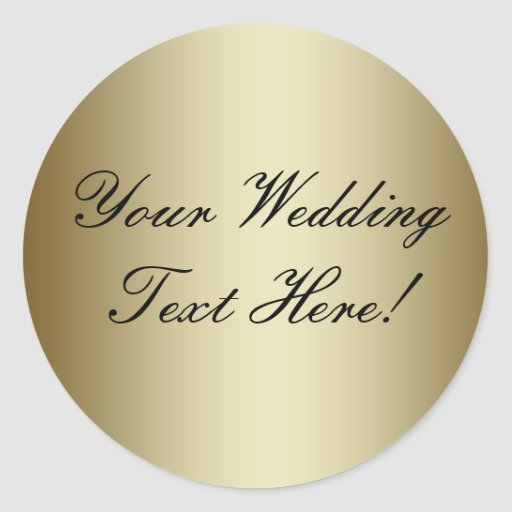 Your Design Here! Customizable Gold Wedding Seal Stickers