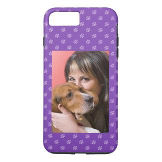 Your Dog & You Photo Custom Puppy Dog Paw Purple iPhone 8 Plus/7 Plus Case