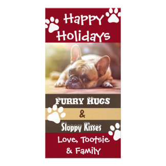 Your Dogs Christmas Card Vertical Photo Card Template