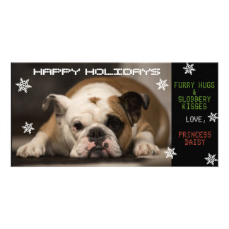 Your Dog's Christmas Customised Photo Card