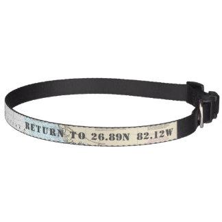Your Dog's Name Latitude Longitude Nautical Pet Collar