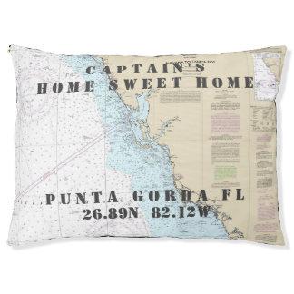 Your Dog's Name Nautical Chart Punta Gorda FL Pet Bed