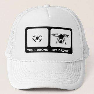 YOUR DRONE / MY DRONE White Trucker Hat