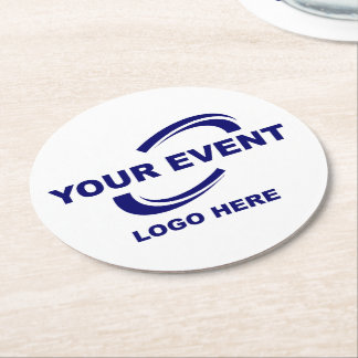 Your Event Logo Coasters Round - Pick Colour