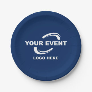 Your Event Logo Paper Plates - Choose Color 7 Inch Paper Plate