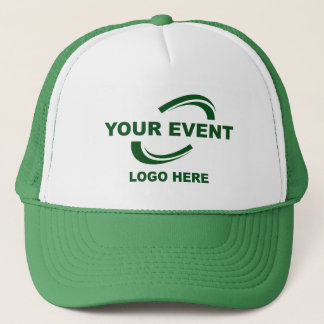 Your Event Logo Trucker Hat Green