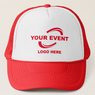 Your Event Logo Trucker Hat Red