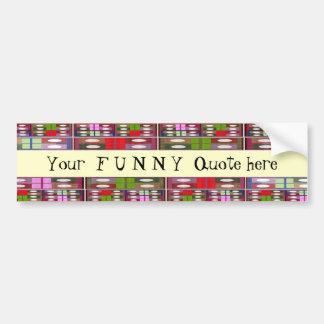 Your F U N N Y    Quote -  Artistic Border Strips Bumper Sticker