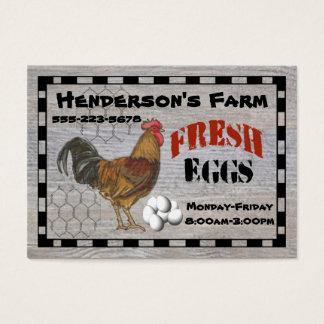 Your Farm Fresh Eggs Business Card