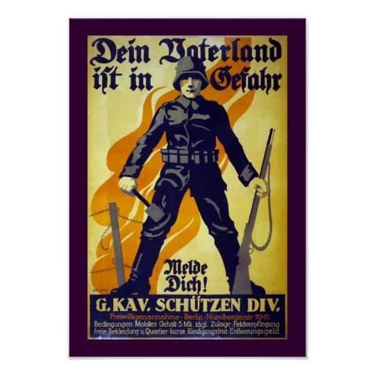 Your Fatherland is in Danger (border) Poster