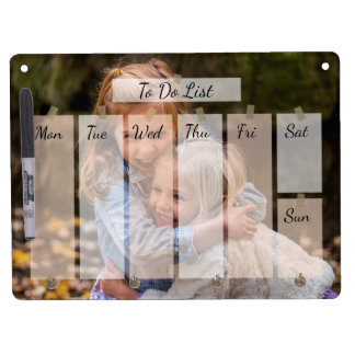 Your favorite photo Timetable personalized Dry Erase Board
