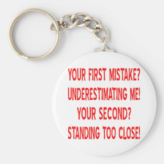 Your First and Second Mistakes Basic Round Button Key Ring