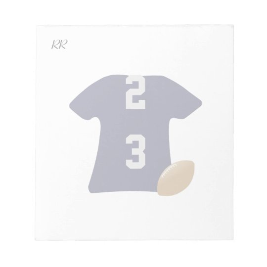 Your Football Shirt With Ball on Small Notepad
