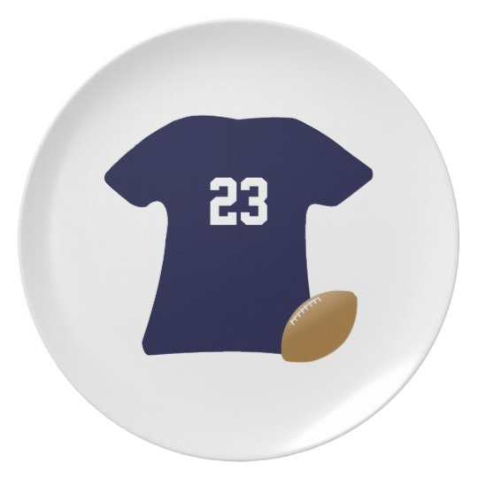 Your Football Shirt With Ball v2 Dinner Plates