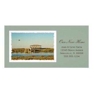 Your Framed New Home Photograph Custom New Address Customised Photo Card