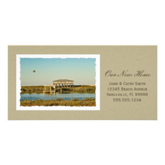 Your Framed New Home Photograph Custom New Address Photo Greeting Card