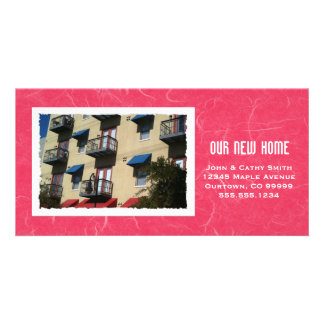 Your Framed New Home Photograph Custom New Address Photo Card Template