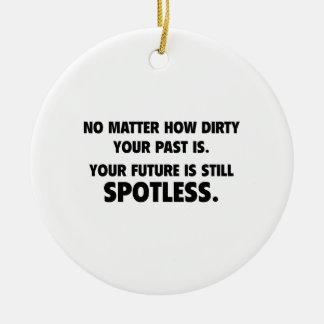 Your Future Is Still Spotless Round Ceramic Decoration