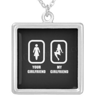 your-girlfriend-my-girlfriend square pendant necklace