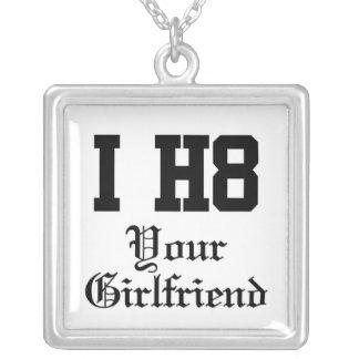 your girlfriend square pendant necklace