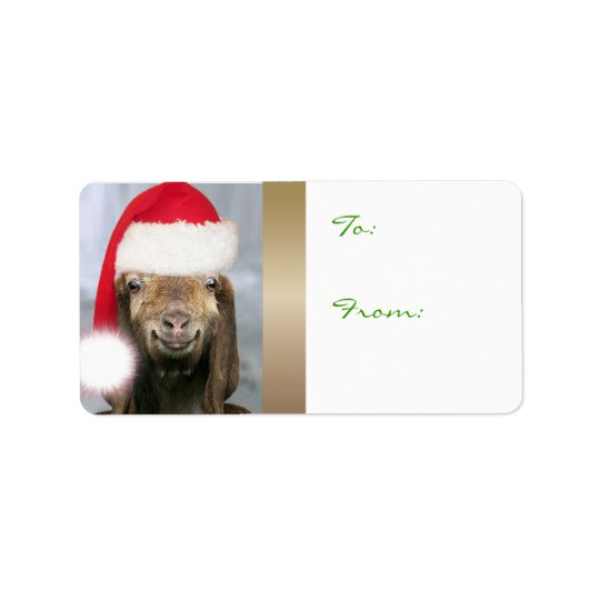 YOUR GOAT PHOTO Goat Christmas Gift Tag