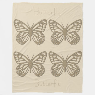 Your Gold And Cream Butterfly Blanket
