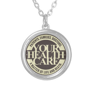 Your Health Care Round Pendant Necklace