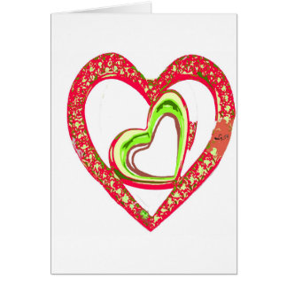 YOUR HEART WITHIN MINE BY LIZ LOZ GREETING CARD