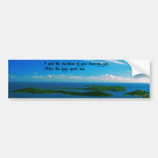 Your Heavenly Eyes Bumper Sticker