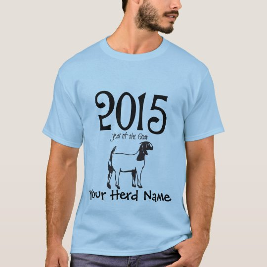 YOUR HERD NAME Year of the GOAT BOER Goat T-Shirt