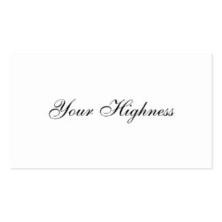 Your Highness - Mom's card Pack Of Standard Business Cards