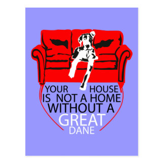 Your Home without a Dane? Imposible! Postcard