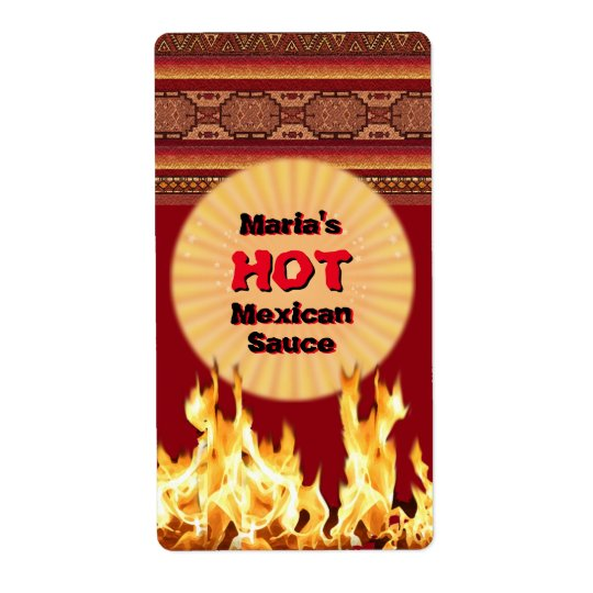 Your Hot Mexican Sauce (customisable) Shipping Label