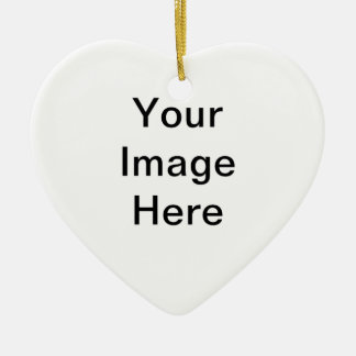 Your Image Here Heart Ceramic Christmas Ornament