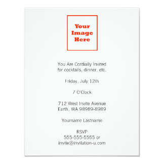Your Image Here (Vertical) 11 Cm X 14 Cm Invitation Card