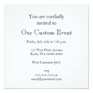 Your Image Here (Vertical) 13 Cm X 13 Cm Square Invitation Card