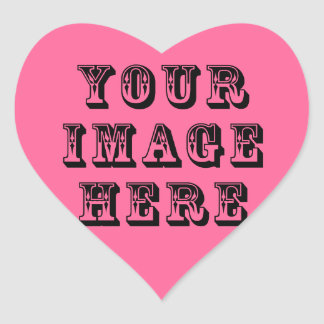 Your Image on Heart Sticker