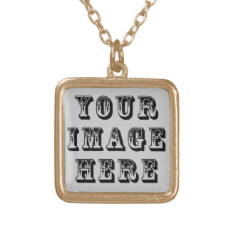 Your Image on Square Pendant Necklace