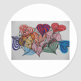your in my heart classic round sticker
