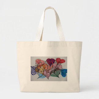 your in my heart large tote bag