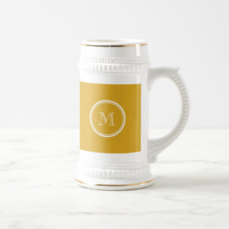 Your Initial Goldenrod High End Colored Coffee Mug