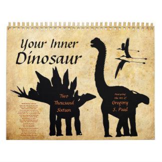 Your Inner Dinosaur calendar 2016 2 Gregory Paul G