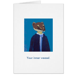 Your inner weasel daily art fun unique painting card