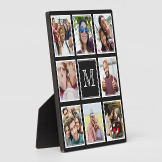 YOUR Instagram Photos & Monogram custom plaque