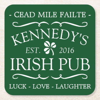 Your Irish Pub Square Paper Coaster